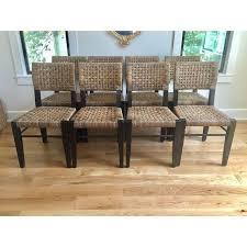 Palecek Chairs Palecek Panamawood Dining Chair Set Of 8 Chairish