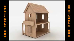 wood toy doll house pattern for laser cutting cnc router or scroll