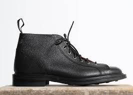 s monkey boots uk s tricker s black scotch grain monkey boots with dainite sole