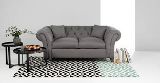 Chesterfield Sofa In Fabric by Bardot 2 Seater Chesterfield Sofa Dawn Grey Made Com
