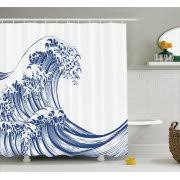 Oriental Shower Curtains Japanese Shower Curtains