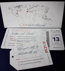 Boarding Pass Wedding Invitations Red U0026 Blue Vintage World Map Airline Ticket Wedding Invitations