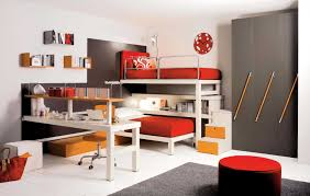 enchanting orange and green awesome kid bedroom design and