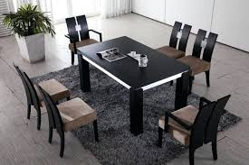 dining table dining room modern black wood dining table pads