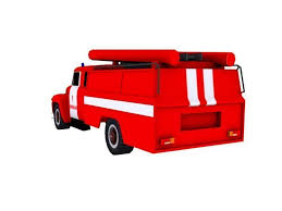 Fire Engine Bed 3d Model Zil 130 Ukraine Fire Engine Cgtrader