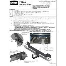 witter bm19c bmw 5 series e60 e61 trident towing kent