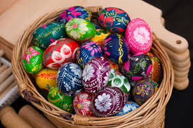 easter eggs for sale painted easter eggs for sale at craft market stock photo image