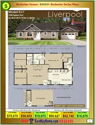 Modular Floor Plans With Prices by Ranch Home Plan And Price Catalog Rochester Homes Indiana Modular