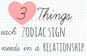 Zodiac Sign Astrology Marina 3 Things Each Zodiac Sign Needs In A Relationship