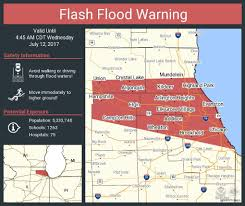 Red Line Chicago Map by Flood Warning Until 5 P M For Parts Of Chicago Area Chicago Tribune