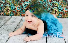 peacock headband glamorous peacock blue feather headband the couture baby child