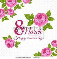 happy cards congratulation 8 march card happy womens stock vector 379679047