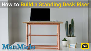 manmade diy standing desk riser youtube