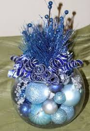 Blue Christmas Decorations Table by Christmas Centerpiece Ice Blue And Silver Holiday Decoration