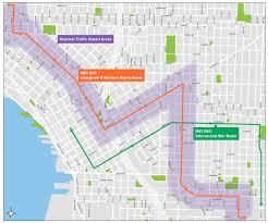 Downtown Seattle Map by Please Plan Ahead For Traffic Impacts On May Day