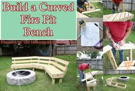 Firepit Benches Build A Curved Pit Bench Project The Homestead Survival