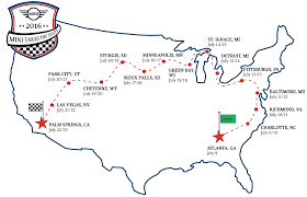 Sioux Falls Map Mini Announces Official Route For Minis Take The States 2016
