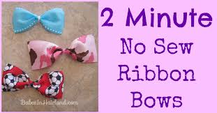 ribbon for hair 2 minute no sew ribbon bows in hairland