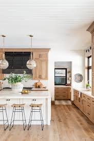 modern kitchen with white oak cabinets not your s wood kitchen studio mcgee