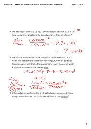 module 8 1 lesson 11 scientific notation word problems