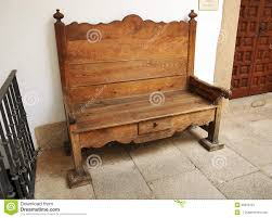 Old Wooden Furniture Old Wooden Bench Spain Stock Photo Image 50634797