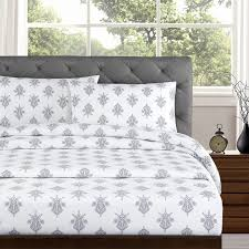 Percale Sheet Set Echelon Home Arwen 250 Thread Count Cotton Percale Sheet Set