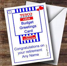 retirement card joke tesco value spoof personalised retirement card the