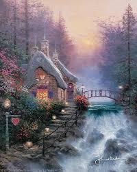 Thomas Kinkade Clocktower Cottage by 569 Best Thomas Kinkade Images On Pinterest Landscapes