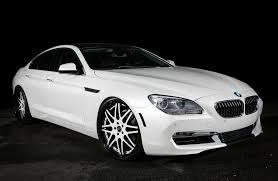 custom white bmw customized bmw 650i gran coupe exclusive motoring miami fl