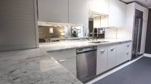kitchen backsplash mirror luxury white marble countertop with white kitchen cabinetry system