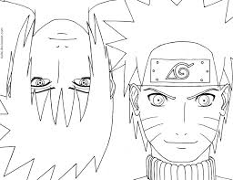 how to draw naruto and sasuke free coloring pages for kids
