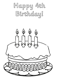 birthday coloring sheets birthday cake netart