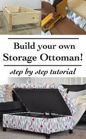 Diy Storage Ottoman Diy Upholstered Storage Ottoman Super Easy Ottomans And Storage