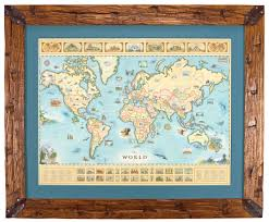 World Map Art The World Map Hand Illustrated Map Art By Xplorer Maps