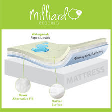 hypoallergenic waterproof quilted crib mattress pad milliard