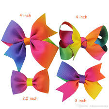 4 inch ribbon 2 5 4inch colorful baby rainbow hair bows with set grosgrain
