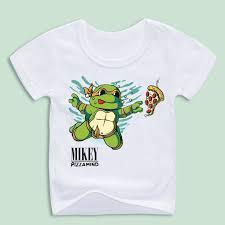 children u0027s birthday gift cartoon tmnt print shirts kids pizza