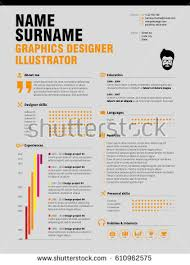 Application Resume Template Resume Minimalist Cv Resume Template Simple Stock Vector 610962575