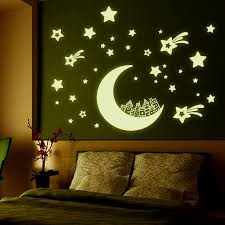 luminous wall sticker home decor glow in the dark star decal baby