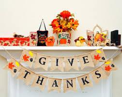 burlap thanksgiving banner fall burlap banner etsy