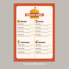 food menu template food catering menu template design cafe menu