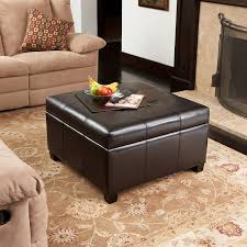 Large Storage Ottoman Bench Coffee Table Top 10 Best Large Storage Ottomans Brown Faux Leather