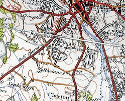 map of newcastle lyme history of westlands in newcastle lyme and staffordshire