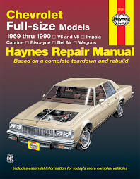 repair manual haynes 24045 fits 69 90 chevrolet caprice ebay