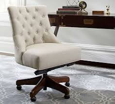 White Fluffy Desk Chair Desk Chairs U0026 Home Office Chairs Pottery Barn