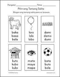filipino worksheets patinig set2b worksheets pinterest