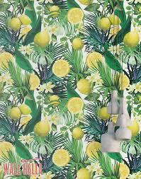 lemon and citris blossom wallpaper removable wallpaper