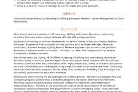 technical recruiter resume summary 100 technical recruiter sample