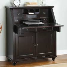 Narrow Computer Desk With Hutch Awesome Classic Black Wooden Narrow Computer Desk With Pull Down