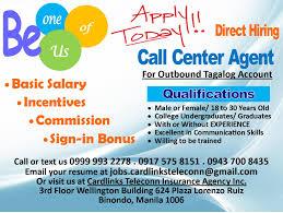 Insurance Agent Job Description For Resume Call Center Agent Tagalog Account Job Hiring Pinoyjobs Ph